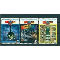 URSS 1978 - Y & T n. 4524/26 - Coopération spatiale avec la R.D.A.