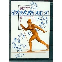 URSS 1980 - Y & T feuillet n. 142 - Jeux olympiques d'hiver