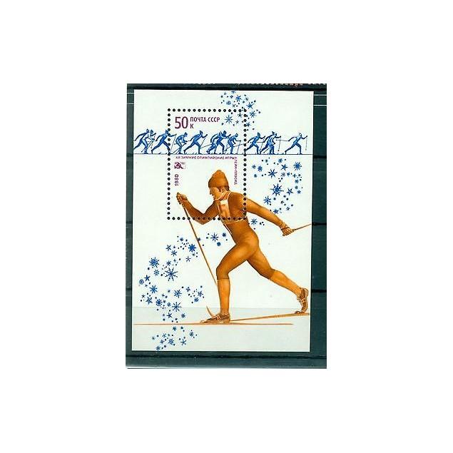 Russie - USSR 1980 - Michel feuillet n. 143 - Jeux olympiques d'hiver