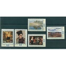 URSS 1983 - Y & T n. 5035/39 - Oeuvres de peintres russes et soviétiques