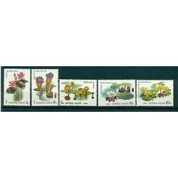 URSS 1984 - Y & T n. 5095/99 - Plantes aquatiques