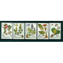 Russie - USSR 1985 - Michel n. 5528/32 - Plantes médicinales protégées de Sibéri