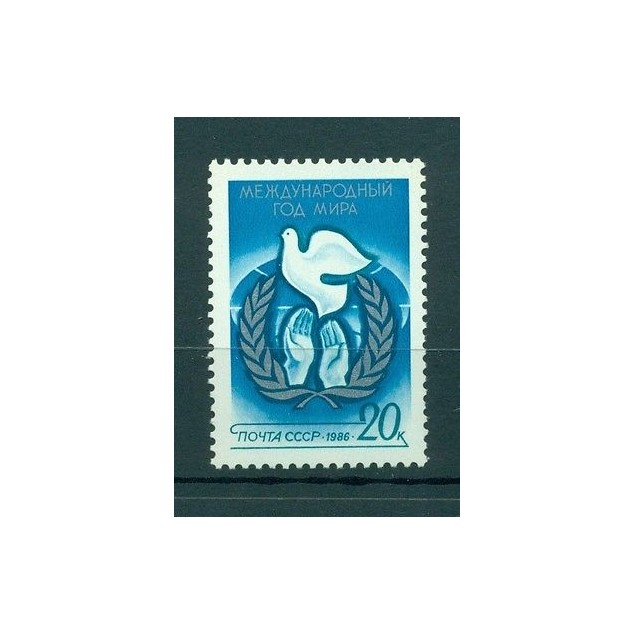 Russie - USSR 1986 - Michel n. 5568 - Année internationale de la paix **