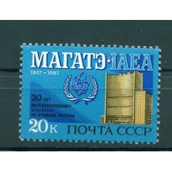 Russie - USSR 1987 - Michel n. 5741 - Agence internationale de l'énergie atomiqu