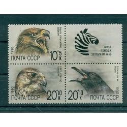 Russie - USSR 1990 - Michel n. 6079/81 - Fonds de secours pour zoo soviétique