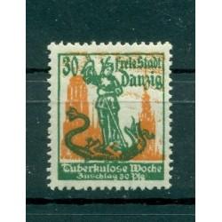 Ville libre de Dantzig - 1921 - Michel n. 90 - Semaine de la tuberculose