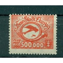 Ville libre de Dantzig - 1923 - Michel n. 178 - Timbre de poste aérienne
