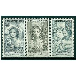 Czechoslovakia 1959 - Mi. n. 1124/1126 - H. R. Declaration 10th Anniversary