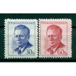 Czechoslovakia 1958 - Mi. n. 1081 A/1082 A - President Novotný