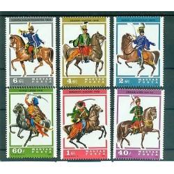 CHEVAUX & UNIFORMES - HORSES & UNIFORMS HUNGARY 1978  Hussars set A