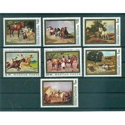 CHEVAUX - HORSES HUNGARY 1979 Tableaux set A