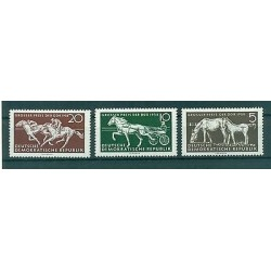 Germany DDR 1958 - Mi. n. 640/642 - Horses
