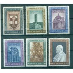 Vaticano 1961 - Mi. n. 382/387 - Papa Giovanni XXIII VI 80° Compleanno