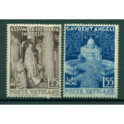 Vatican 1951 - Y & T  n. 161/62 - Proclamation of the dogma of the Assumption