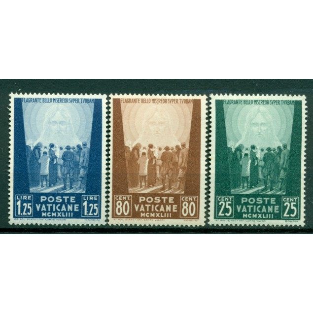 Vatican 1943 - Y & T  n. 102/04 - For the benefit of the prisoners of war