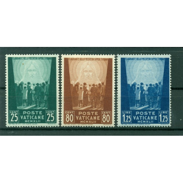Vatican 1942 - Y & T  n. 89/91 - For the benefit of the prisoners of war