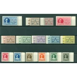 Vatican 1929 - Y & T  n. 26/38 + n. 1/2 express - Pius XI