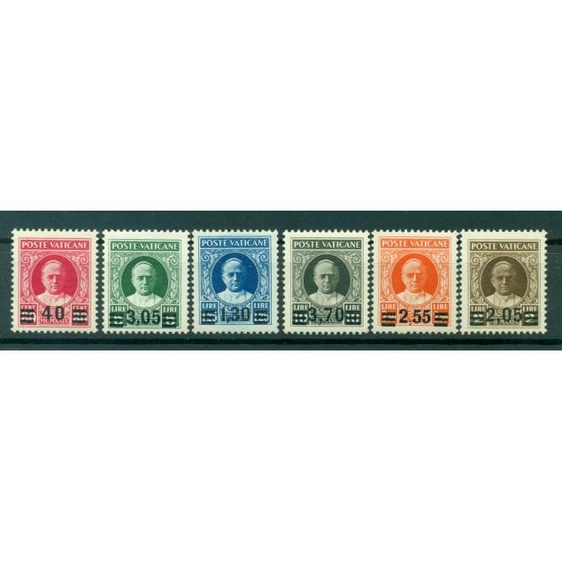 "Vatican 1934 - Y & T  n. 60/65 - 1929 stamps overprinted. Serie called ""Provvisoria"""